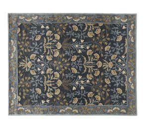 Adeline Tufted Wool Rug - Blue