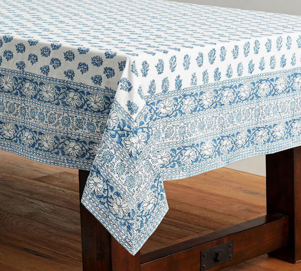 Block Print Tablecloth - Cool