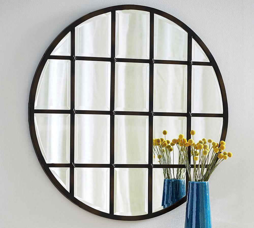 Eagan Multipanel Round Mirror