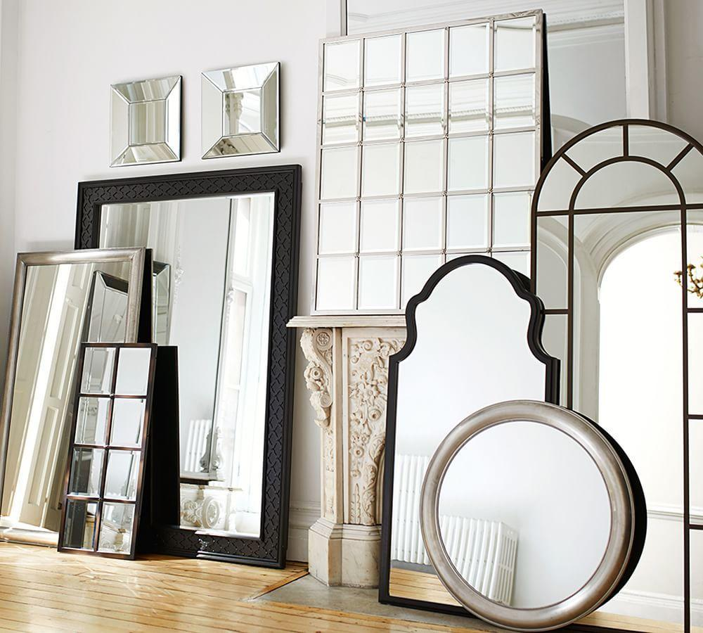 Eagan Silver Multipanel Large Mirror Pottery Barn Au
