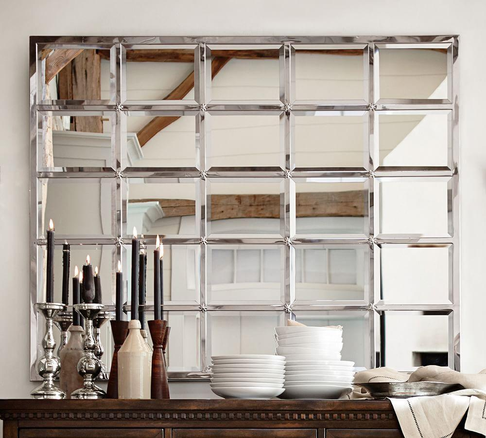 Eagan Silver Multipanel Large Mirror Pottery Barn Au