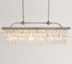 Clarissa Glass Drop Rectangular Chandelier