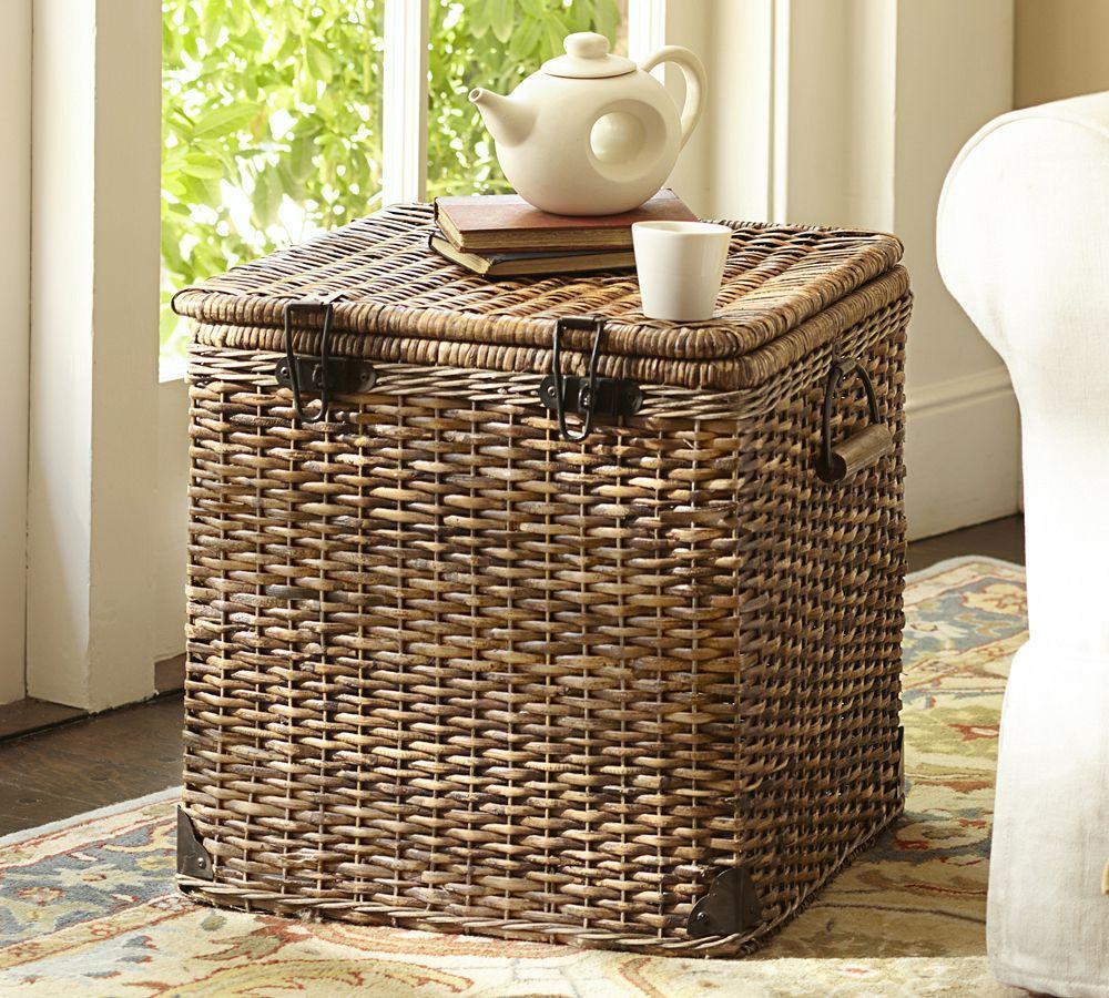 Daytrip Lidded Cube Basket