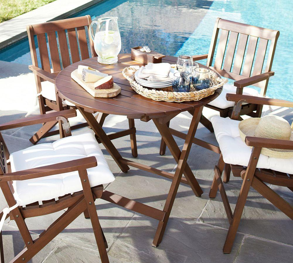 chatham round folding bistro table pottery barn au