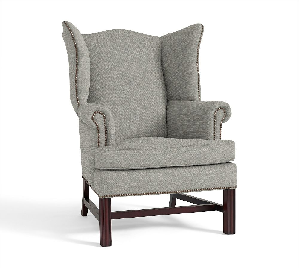Thatcher Upholstered Wingback Chair Pottery Barn Au
