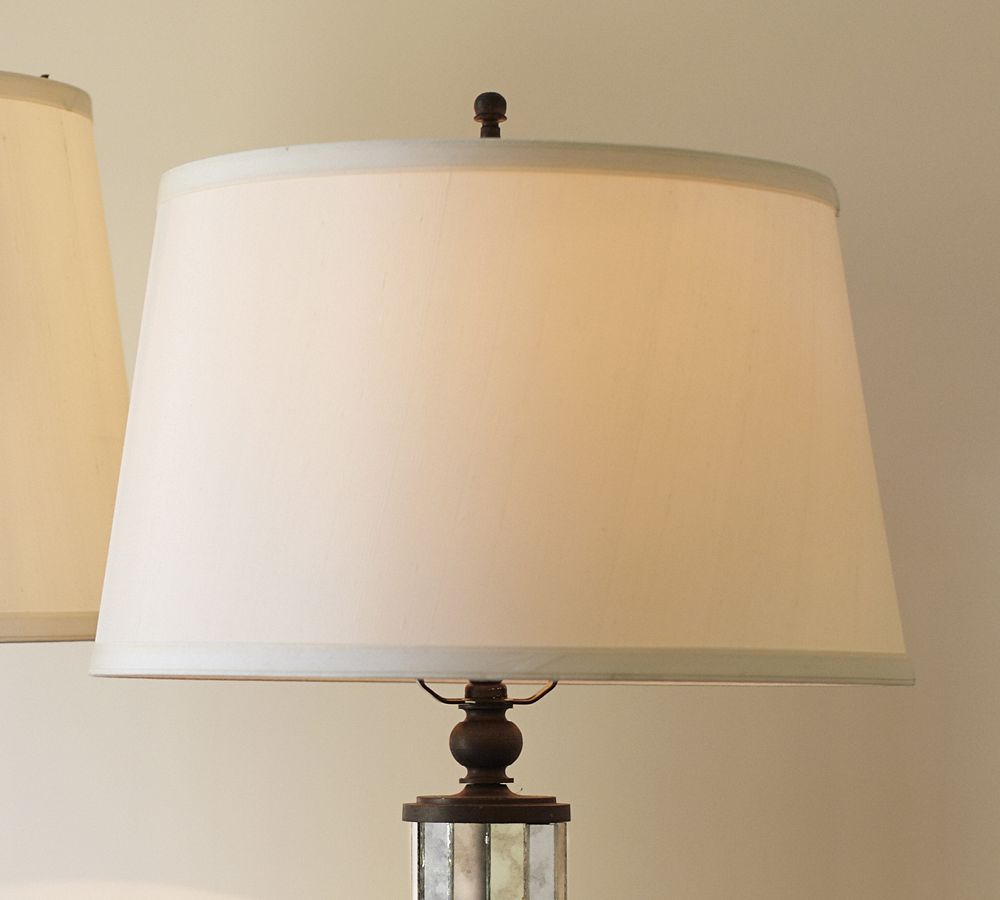 Silk tapered drum lamp shade pottery barn au silk tapered drum lamp shade aloadofball Image collections