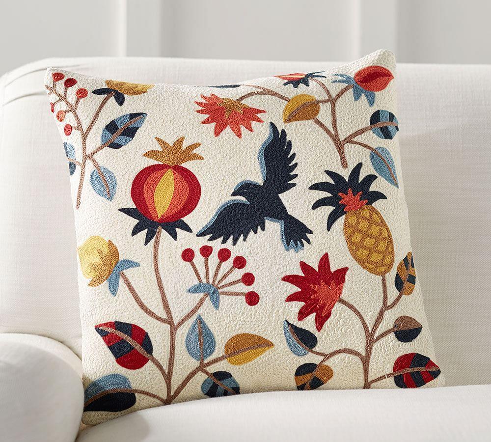 Folk Bird Cushion Cover Pottery Barn Au