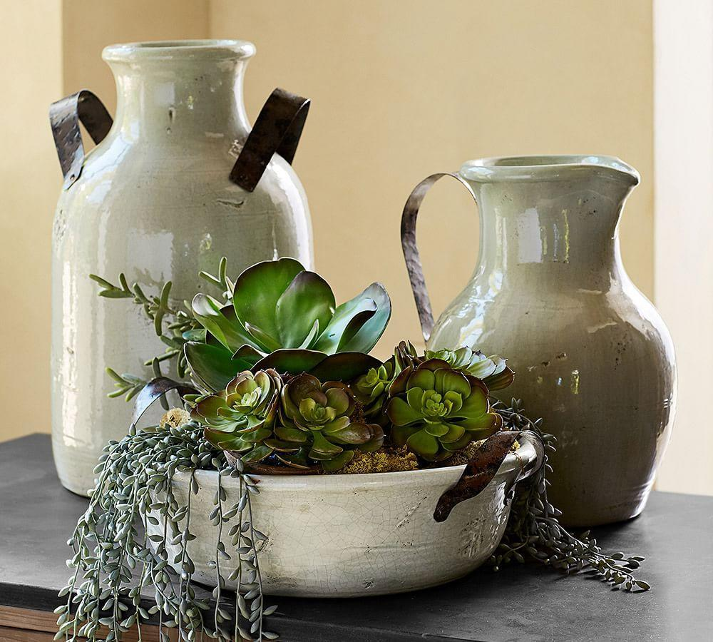 Marlowe Ceramic Vase Collection Pottery Barn Au