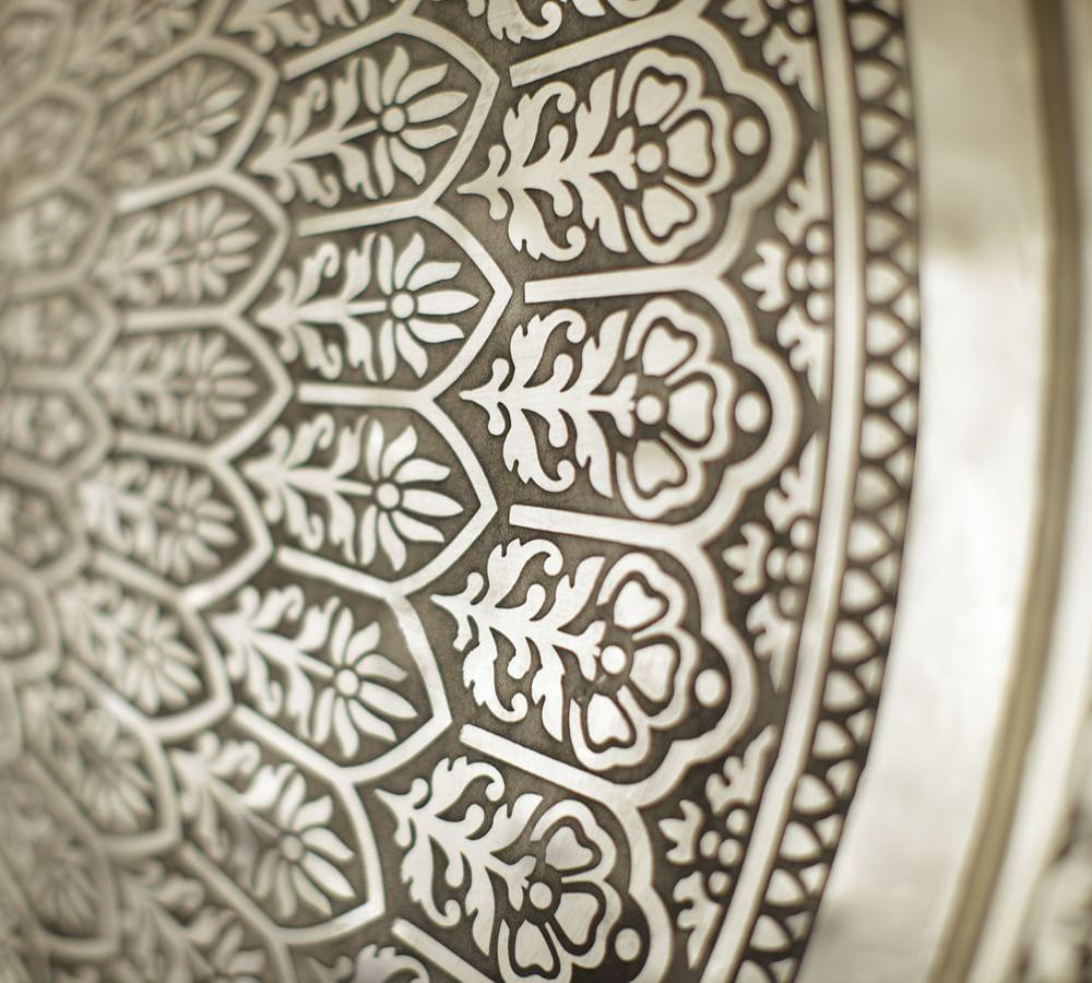 Decorative Metal Disc - Silver
