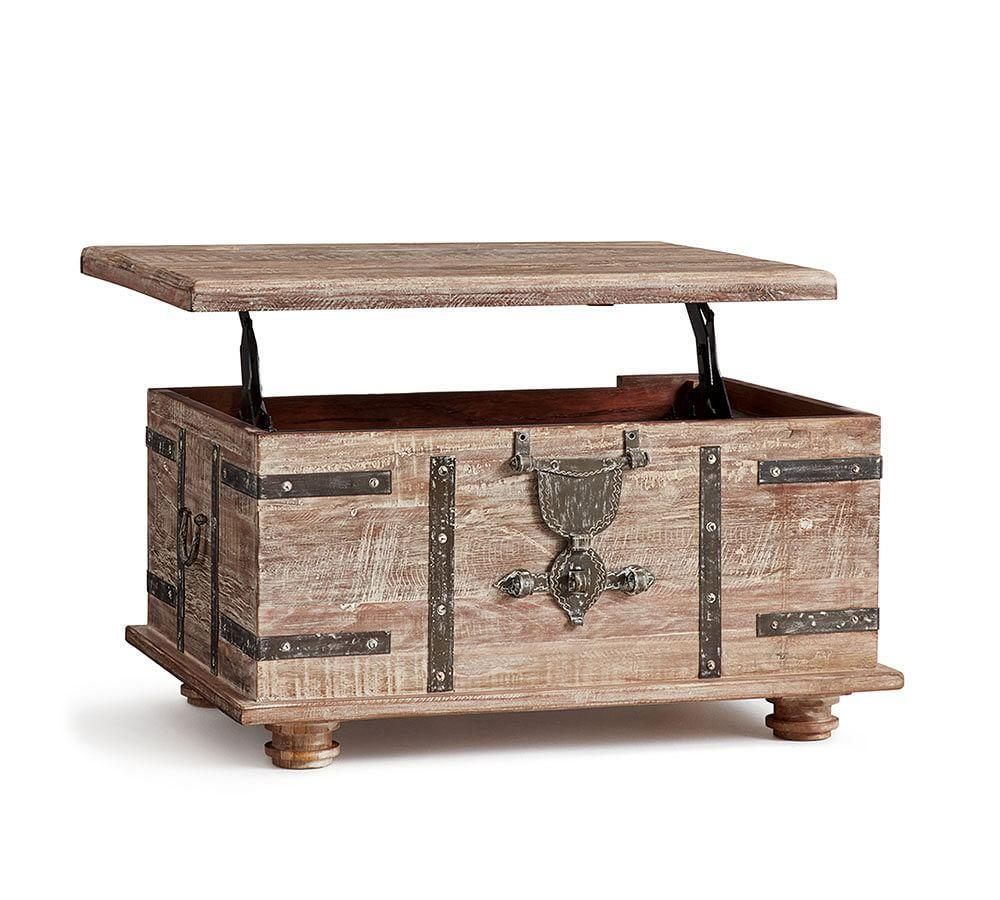 Lift Top Coffee Table Antique: Kaplan Lift Trunk