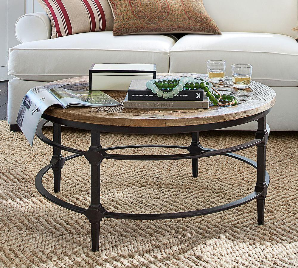 Modern Round Wooden Coffee Table 110: Parquet Round Coffee Table