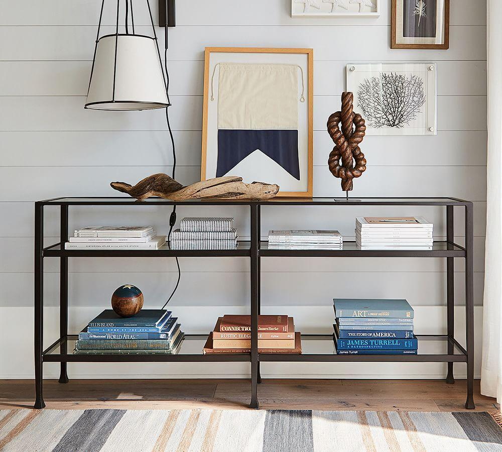 Tanner Long Console Table Bronze Finish Pottery Barn Au