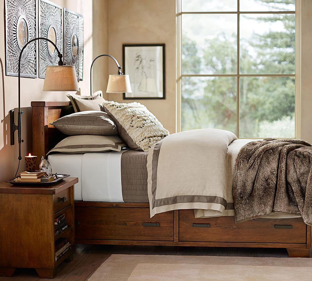 Linen With Silk Trim Quilt Cover Amp Pillowcase Pottery