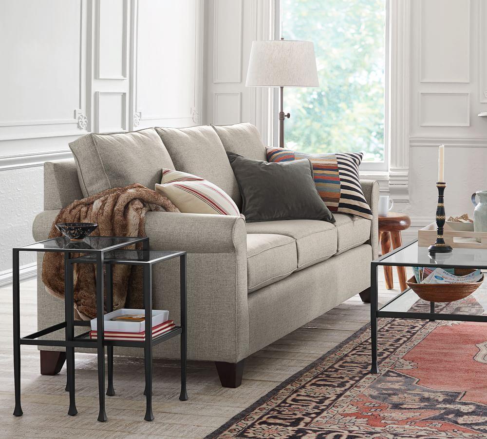 Cameron Upholstered Sofa Ash 224 Cm Pottery Barn Au