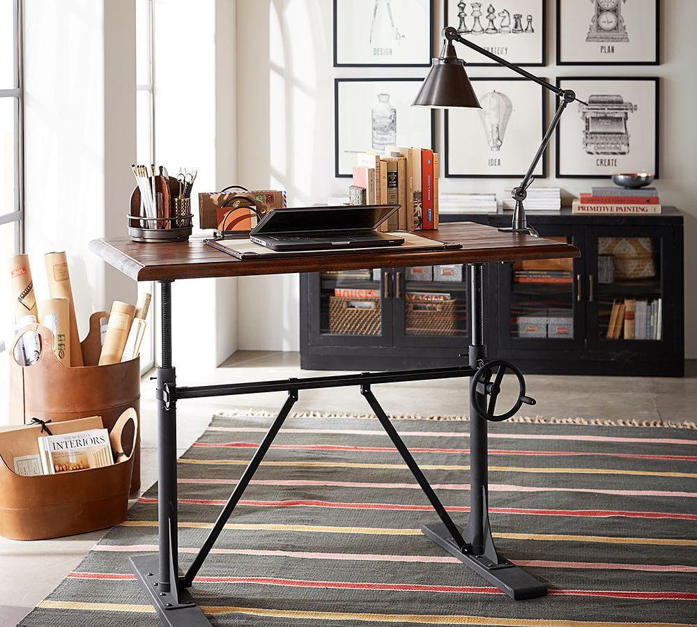 Pottery barn office furniture 2 -  Pittsburgh Crank Sit Stand Desk