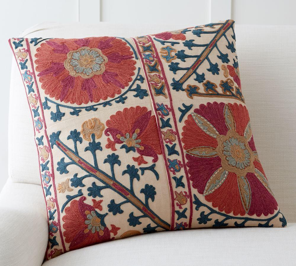 Rozelle Embroidered Cushion Cover Pottery Barn Au