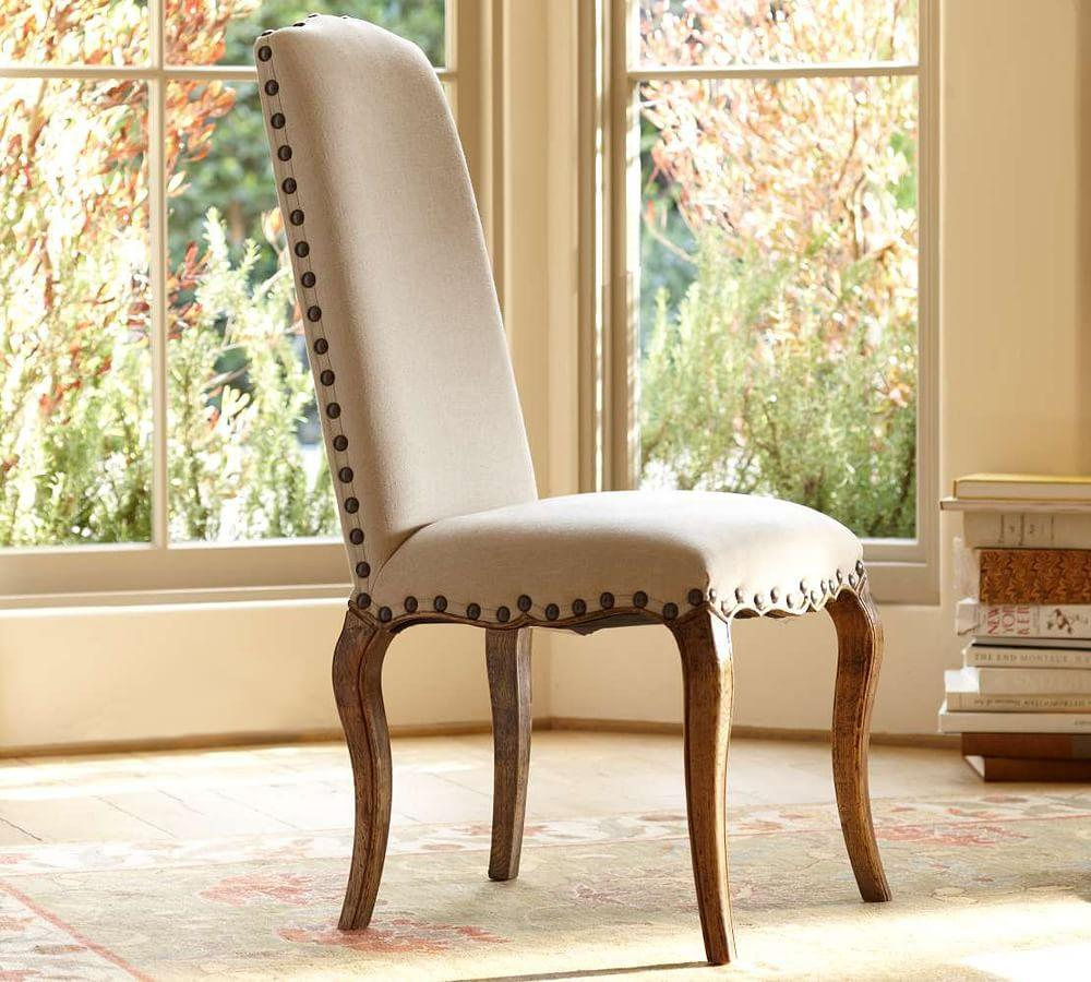 calais upholstered side chair pottery barn au. Black Bedroom Furniture Sets. Home Design Ideas
