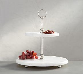 Marble Pewter Tiered Stand