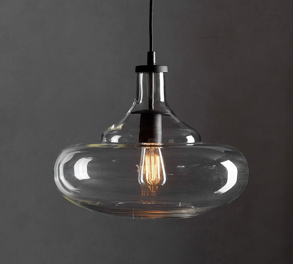 Pottery Barn Lights Hanging Lights: McCarthy Glass Pendants