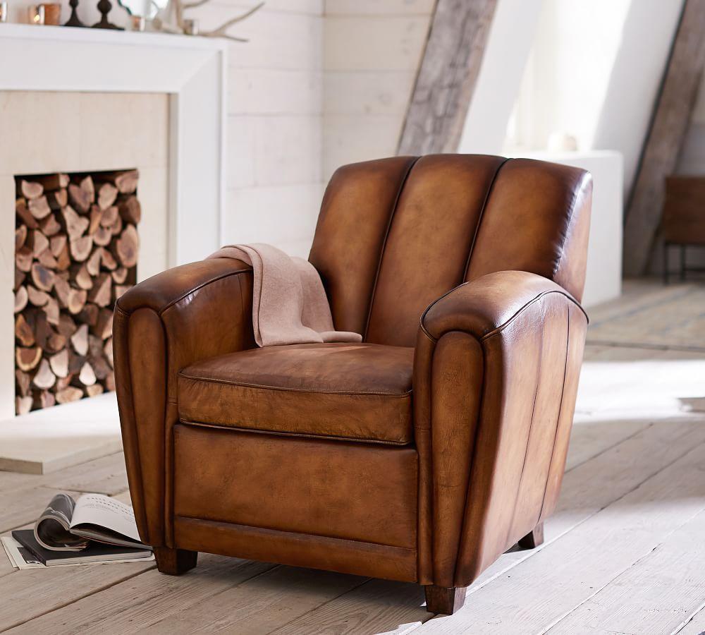 Elliot Leather Armchair | Pottery Barn AU