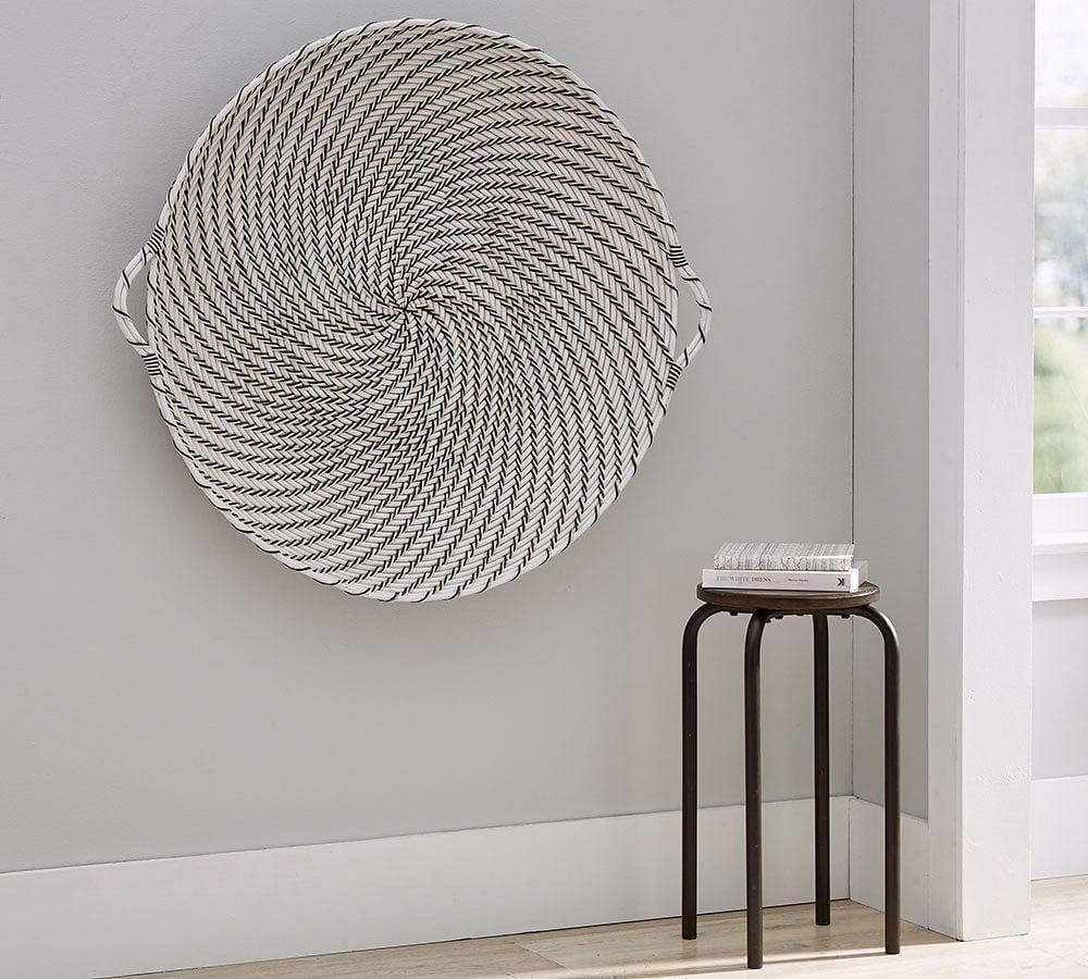 Hapao Black And White Basket Wall Art Pottery Barn Au