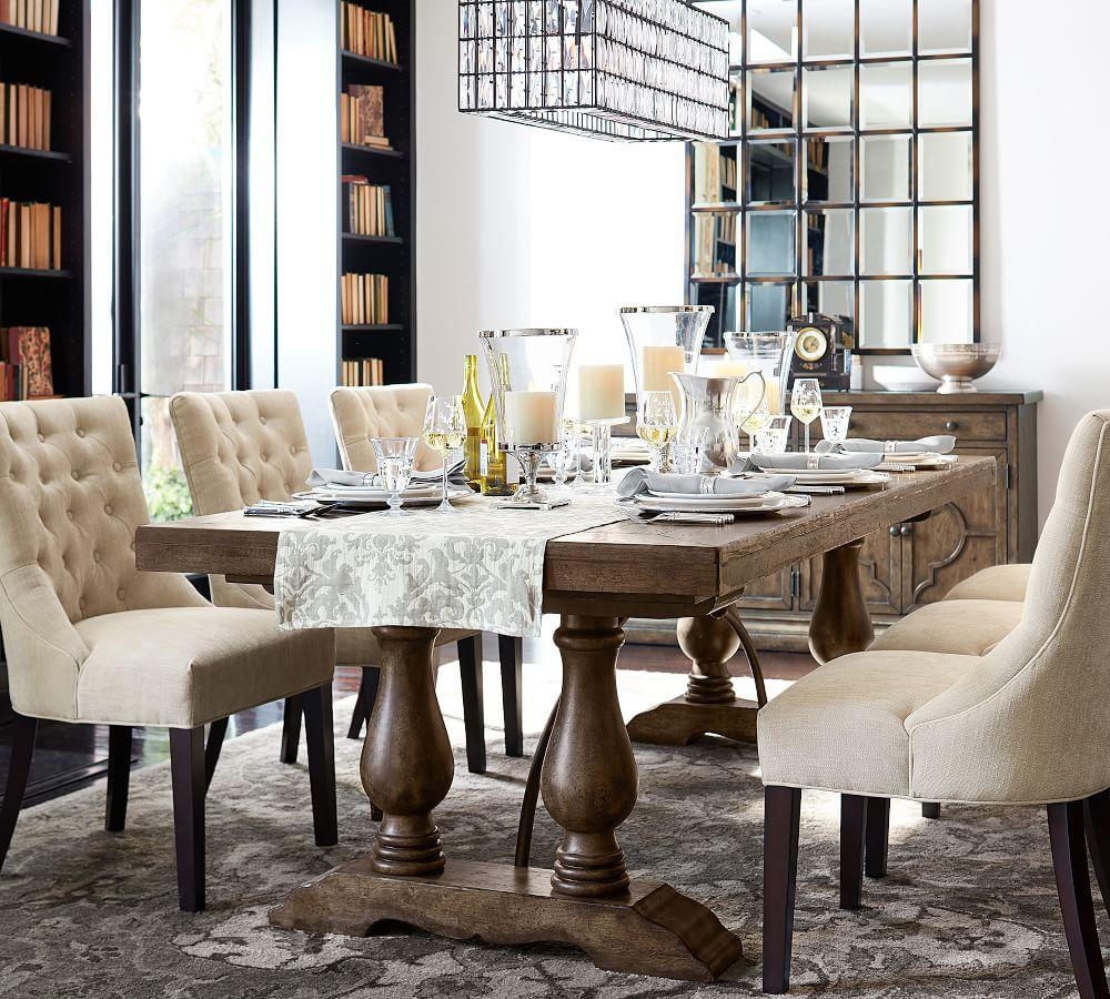 30 Ways To Create A Trendy Industrial Dining Room: Lorraine Extending Dining Table
