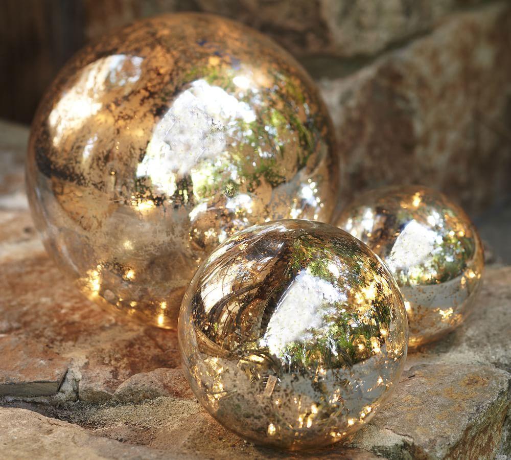 Lit Mercury Glass Globe Pottery Barn Au