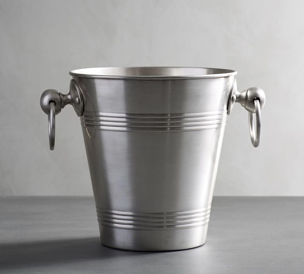 Antique Silver Sentiment Ice Bucket