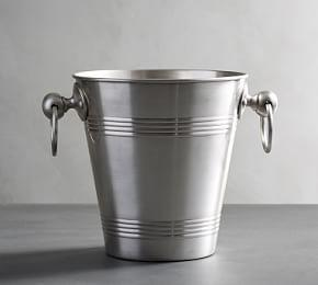 Antique Silver Sentiment Ice Bucket