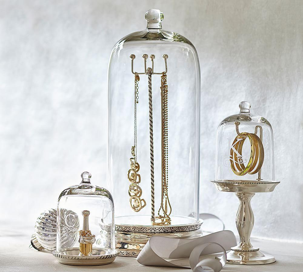 Holiday Decor Gift Ideas Pottery Barn Edition All My: Glass Cloche Jewellery Storage