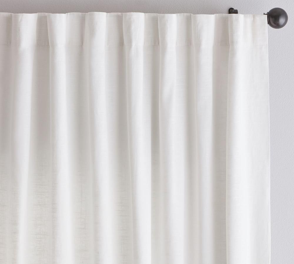 Emery Linen/Cotton Curtain - White