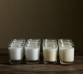 Filled Glass Votive Candle, Set of 16