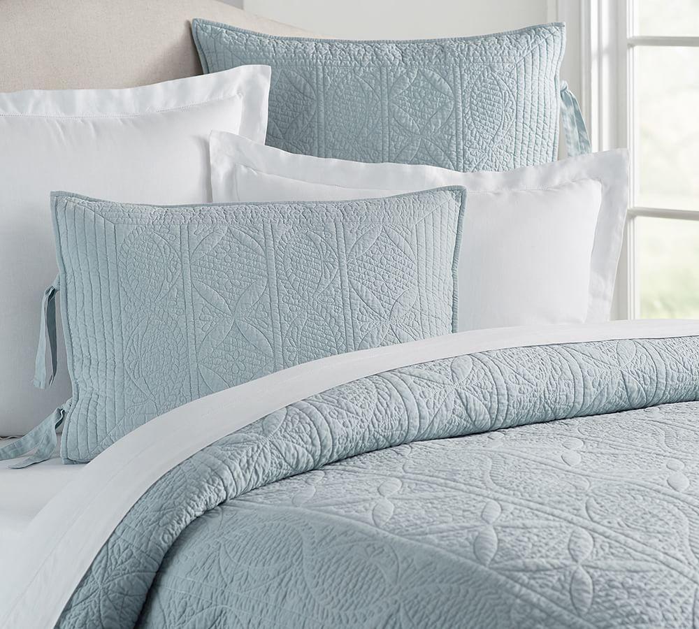 Hanna Cotton Linen Blend Coverlet & Pillowcase
