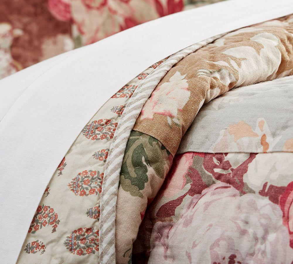 Carolina Floral Patchwork Reversible Quilt Amp Pillowcase