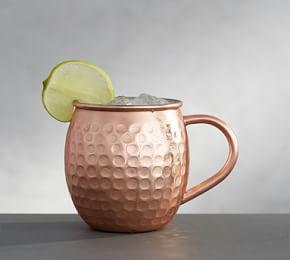 Hammered Copper Moscow Mule Mug, Set of 2