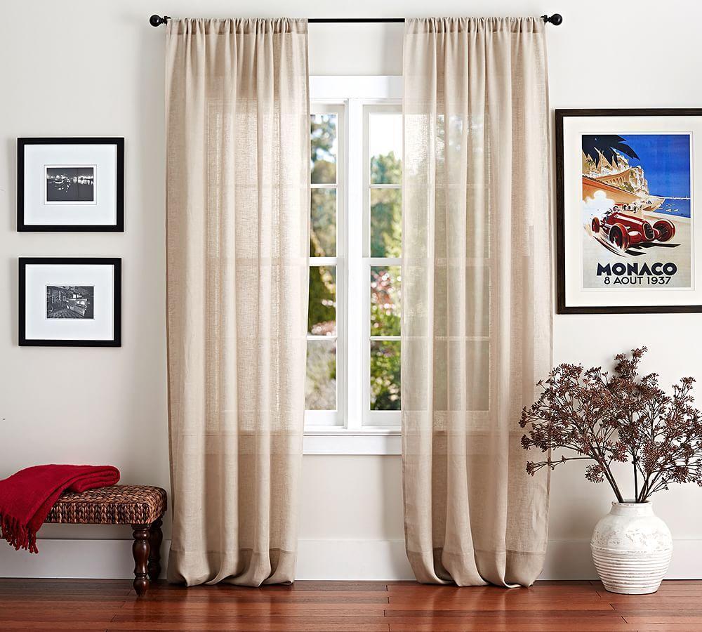 Belgian Linen Flax Sheer Curtain - Flax