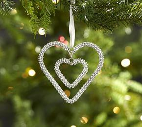 Double Hanging Heart Ornament
