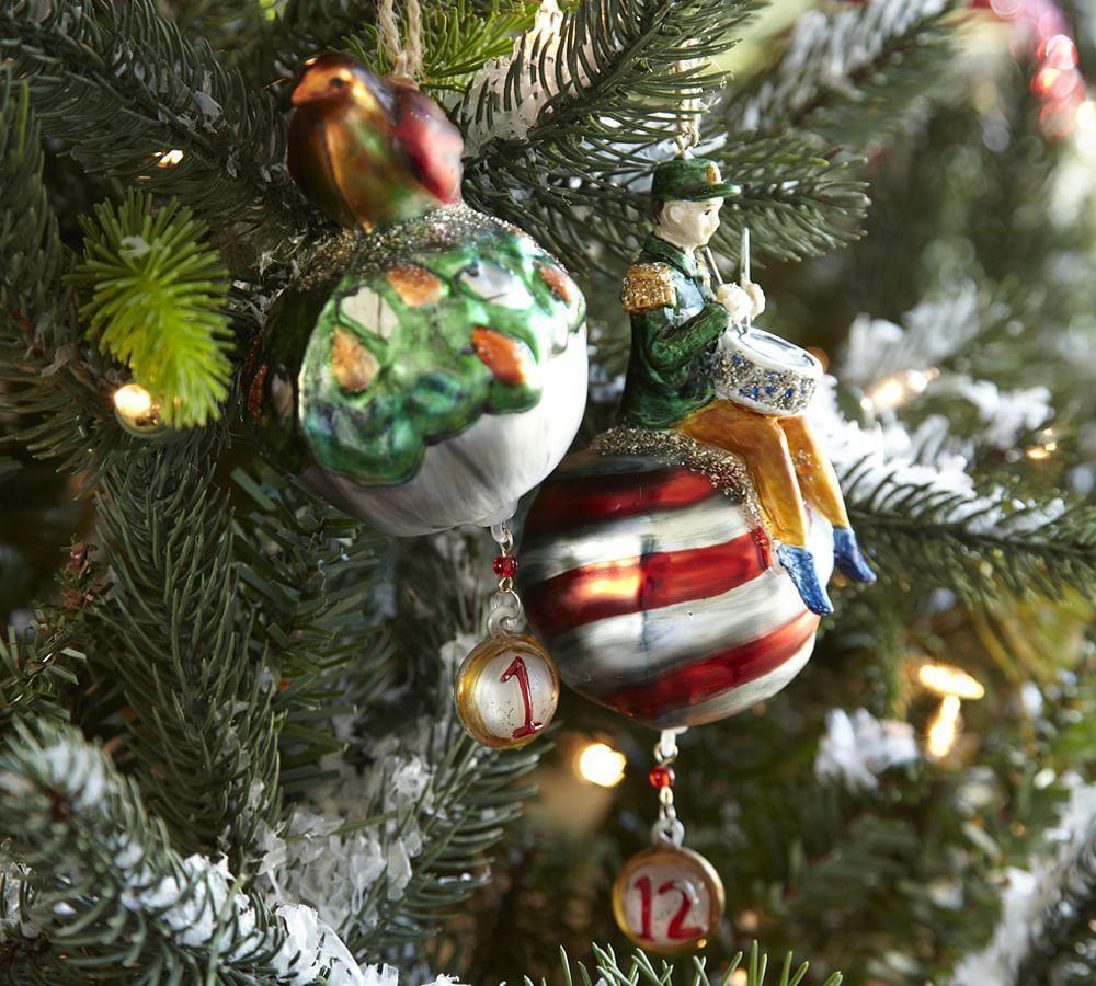 twelve days of christmas ornaments set of 12 - 12 Days Of Christmas Ornament Set