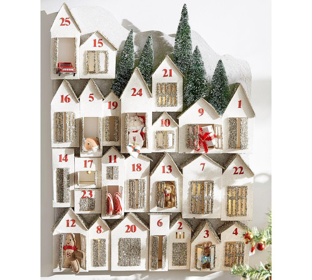 Glitter Lit Houses Advent Calendar Pottery Barn Au
