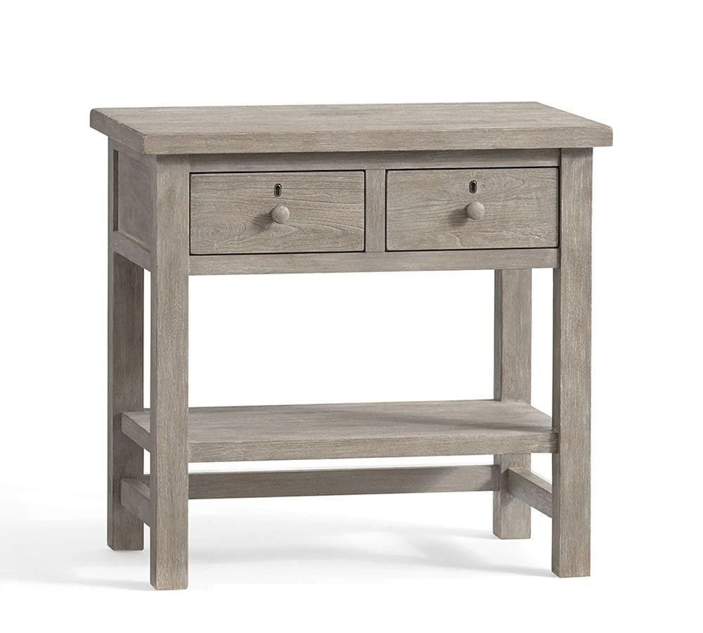 Farmhouse 2-Drawer Bedside Table