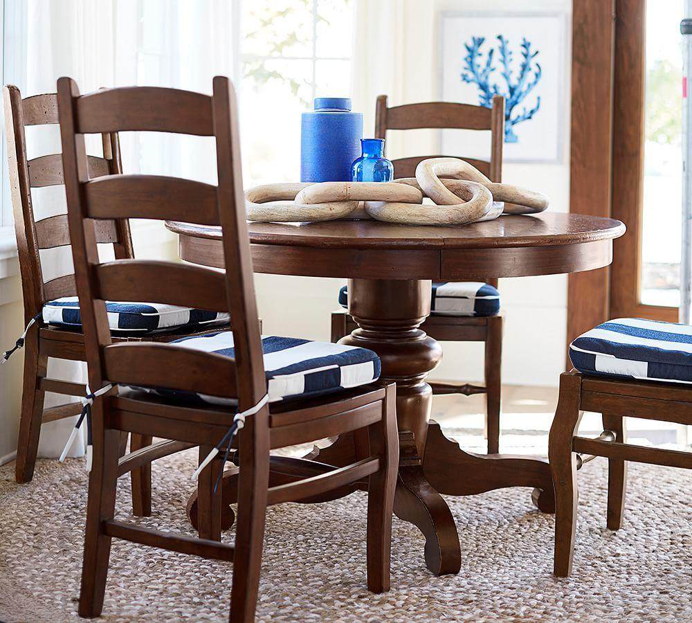 tivoli extending round dining table tuscan chestnut stain pottery barn au. Black Bedroom Furniture Sets. Home Design Ideas