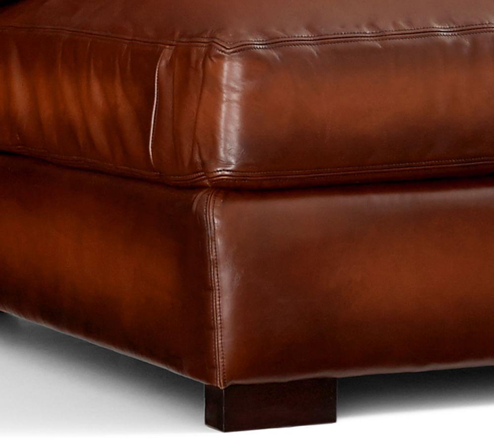 Turner Square Arm Leather Sofa Vintage Caramel 217 Cm