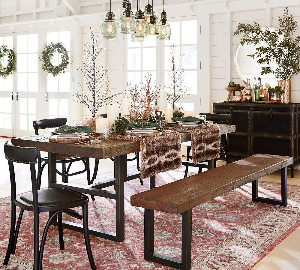 Griffin Fixed Dining Table Pottery Barn Au