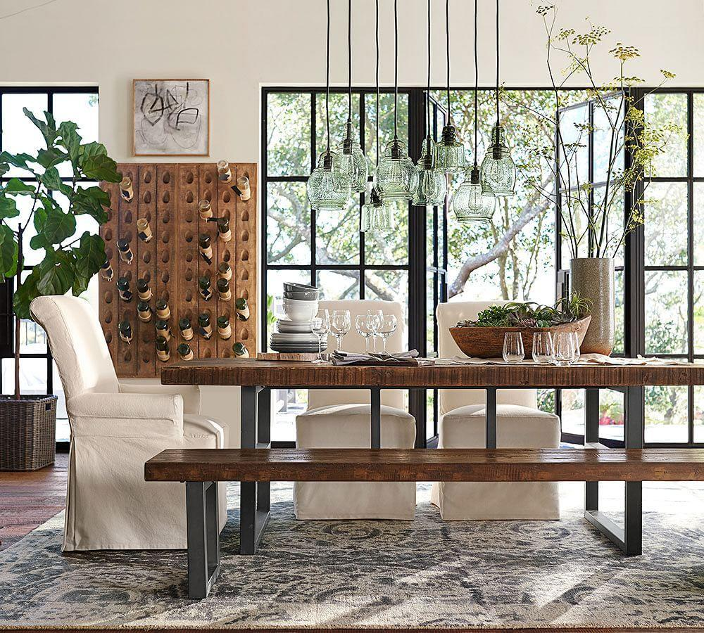 Pottery Furniture: Griffin Fixed Dining Table