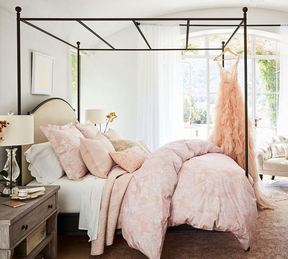 Monique Lhuillier Blossom Coverlet & Pillowcase - Shell
