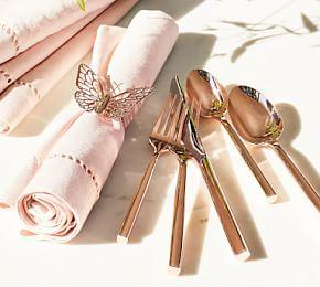 Monique Lhuillier Marlowe Rose Gold 5-Piece Cutlery Set