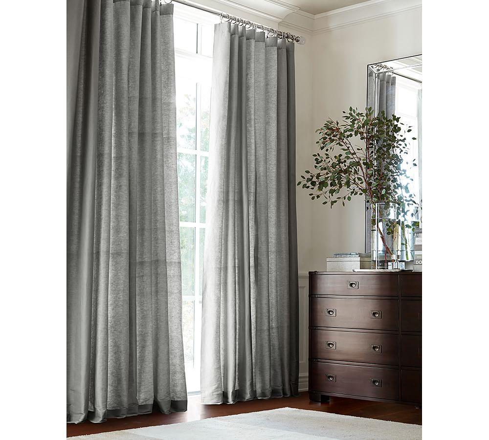 Dupioni Silk Curtain - Platinum Grey