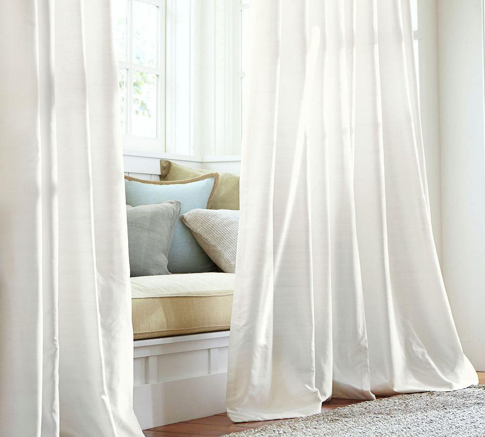 Dupioni Silk Curtain Ivory Pottery Barn Au
