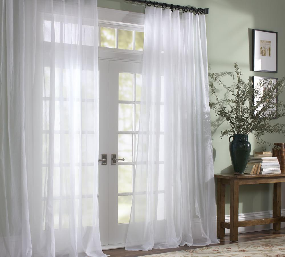 Voile Pole Pocket Curtain Pottery Barn Au