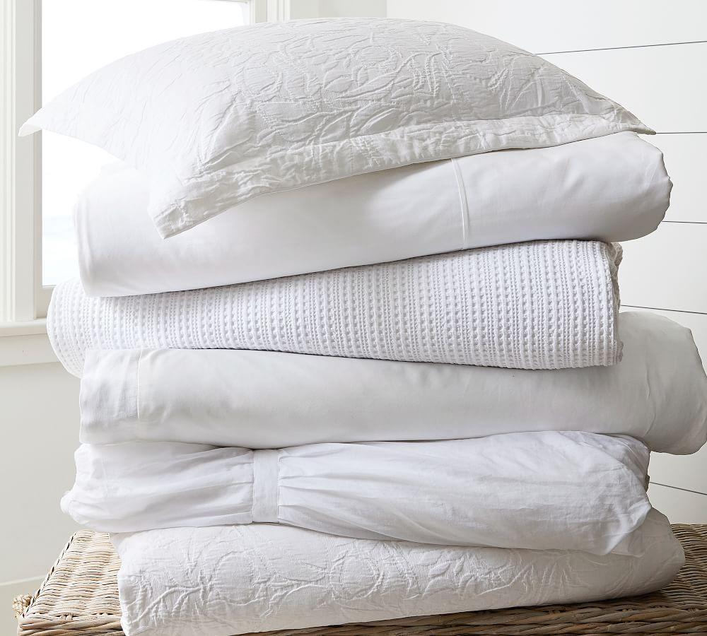 PB Essential Quilt Cover & Pillowcase - White